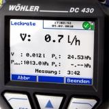 Манометр, течеискатель Wohler DC 430